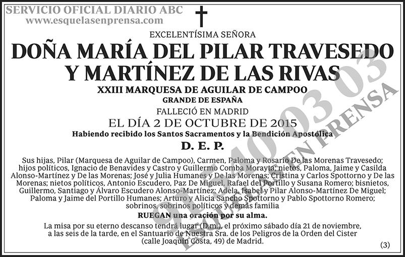 María del Pilar Travesedo y Martínez de las Rivas